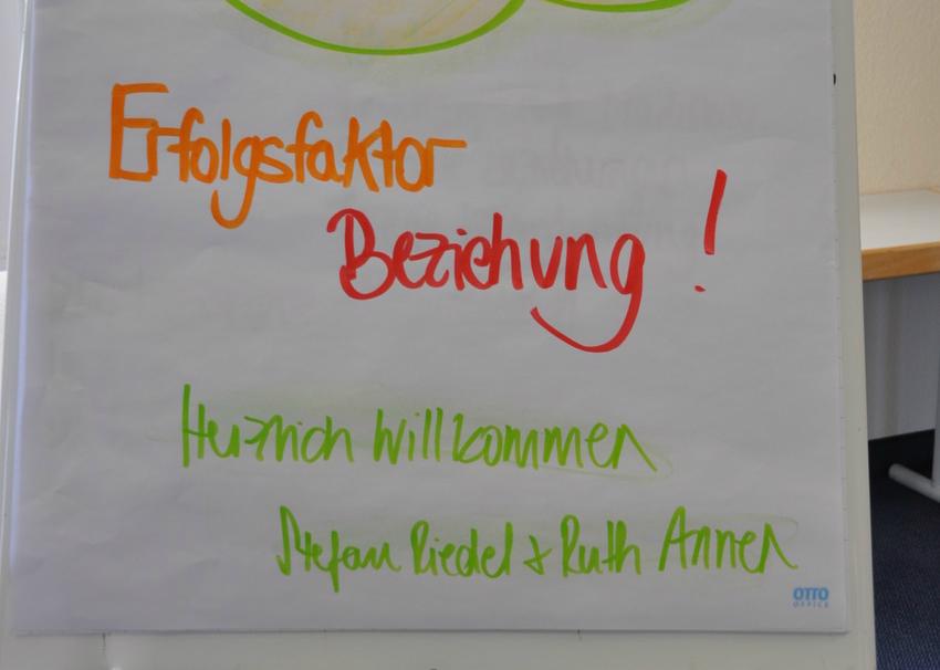 Erfolgsfaktor Beziehung toom Workshop Flipchart